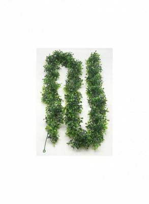 Artificial Boxwood Garland (6ft Artificial Boxwood Garland, Varying Green Shades of Leaf in Faux)