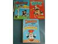 3 x vintage annuals (Beano & Dandy)
