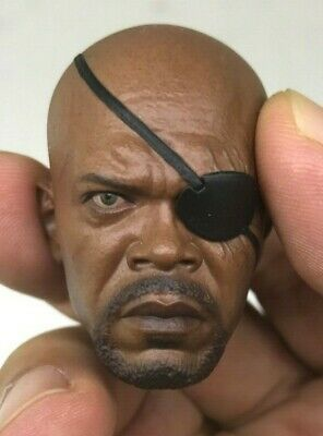 1/6 - Hot Toys - MMS 169 - The Avengers - Nick Fury Head Sculpt Only BIB