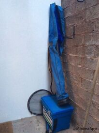 Fishing tackle seat box and holdall plus other bits