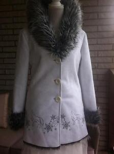 REDUCED - White Suede Ladie's Jacket by Ideal North