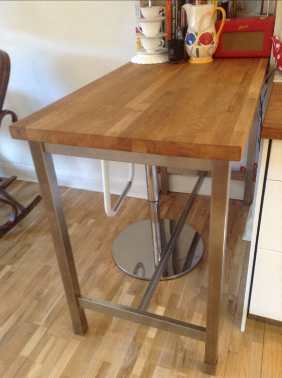 Free standing breakfast bar Wooden top with chrome legs  : 86 from www.gumtree.com size 581 x 778 jpeg 70kB