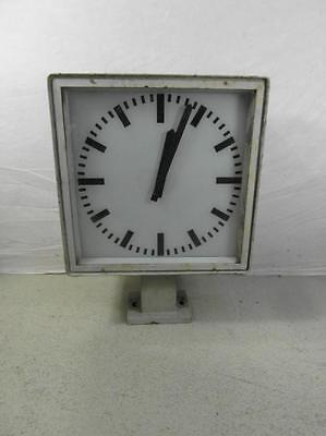 Uhr Bahnhofsuhr Antik Riesig Öffentlchkeit Beidseitig Sammler Metall Loft Rar