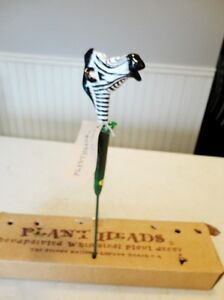 """Plant Head Stake - Zebra for small pots (4"""" to 6"""") - Brand new"""