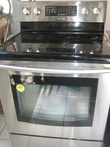 Samsung stainless steel stove, convection oven, self clean, $550