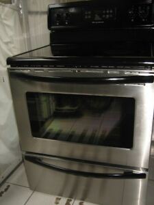 Frigidaire stainless steel stove, self cleaning, $320Fully func