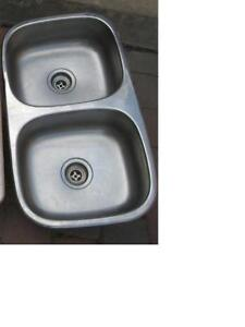 double kitchen stainless steel sink $25