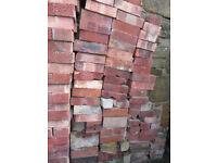 bricks, red