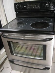Kenmore stainless steel stove, self clean$280 Fully functional,