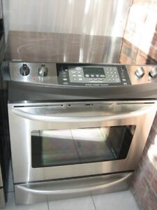 Kenmore stainless steel slide in stove, convection oven, $450wa