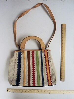 Women's RELIC Beige Tan Blue Cream  Hand Bag Purse Tote - FLASH SALE](Canvas Tote Bags Cheap)