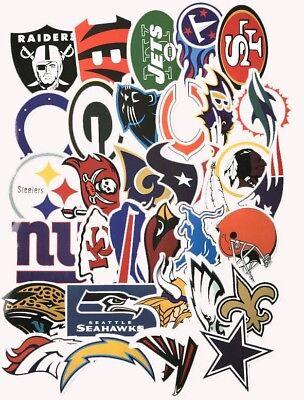 Nfl Logo Die Cut Vinyl Sticker All Teams Patriots Eagles Bengals Jets Packers