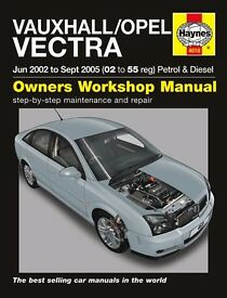 Vauxhall Vectra Haynes Manual June 2002 to Sept 2005