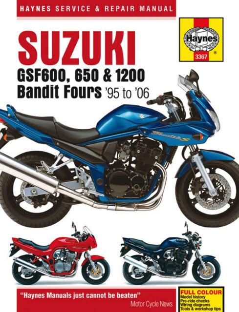 HAYNES 3367 MOTORCYCLE REPAIR MANUAL SUZUKI GSF600 650 1200 BANDIT 95 - 06
