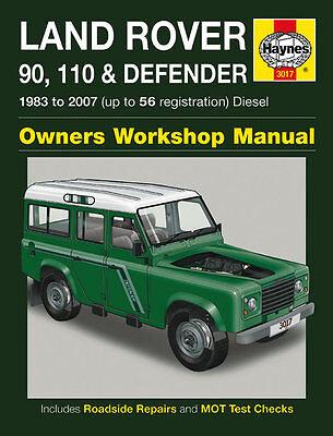 Haynes Workshop Repair Manual Land Rover Defender 83 07