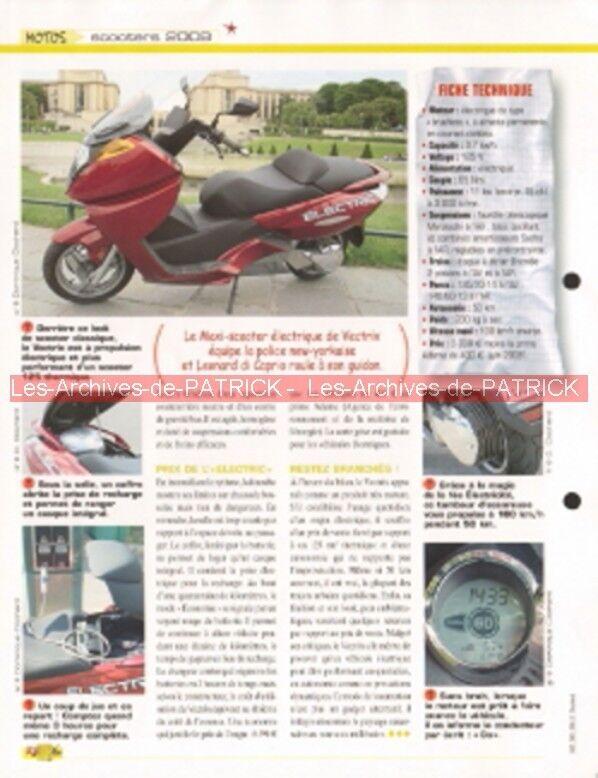 Vectrix maxi-scooter electrique 2008 joe bar team fiche moto #007894