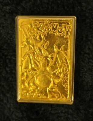 1999 Nintendo Pokemon 24k Gold Plated Charizard Metal Card