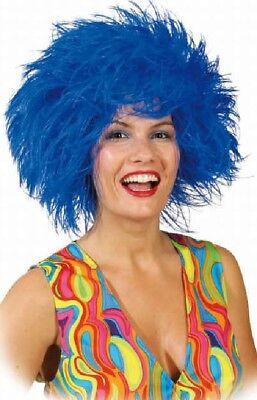 Perücken & Bärte Erwachsene Clown Afro Rot Blau Rainbow Gelb Stoffpuppe Kostüm Kleid Outfit