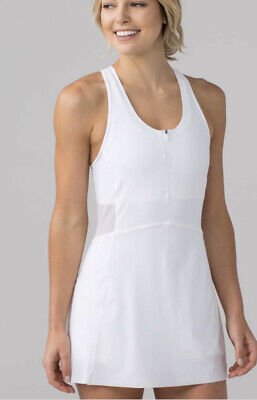 Lululemon Final Lap Dress-White-8-NWT