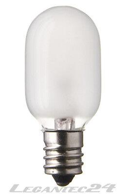 120v Glühbirne Lampe (Glühlampe 120V 15W E12 T22x52 matt Glühbirne Lampe Birne 120Volt 15Watt neu)