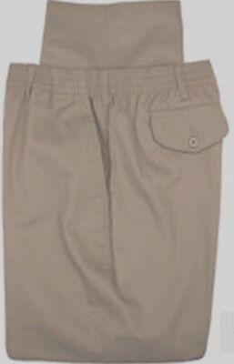Nwt Big  Tall Mens Falcon Bay Casual Twill Pants Full Elastic Waist Brown 70X32