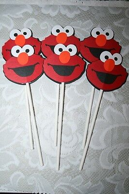 ELMO~~SESAME STREET~CUPCAKE  TOPPERS~~Birthday Party Decorations~Cricut die cuts