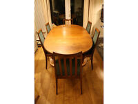 G Plan Teak Extending Dining Table and 6 Chairs