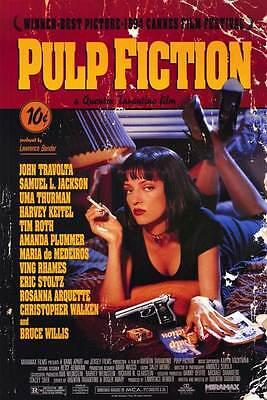 Pulp Fiction Movie Promo Poster B John Travolta Samuel L  Jackson Uma Thurman