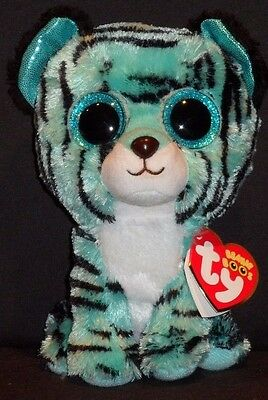 "TY BEANIE BOOS - TESS the 6"" TIGER - MINT with MINT TAG - JUSTICE EXCLUSIVE"