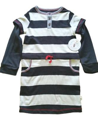 Burts Bees Kids Girls Long Sleeve Dress NEW Tags Size 5 100% Organic Cotton