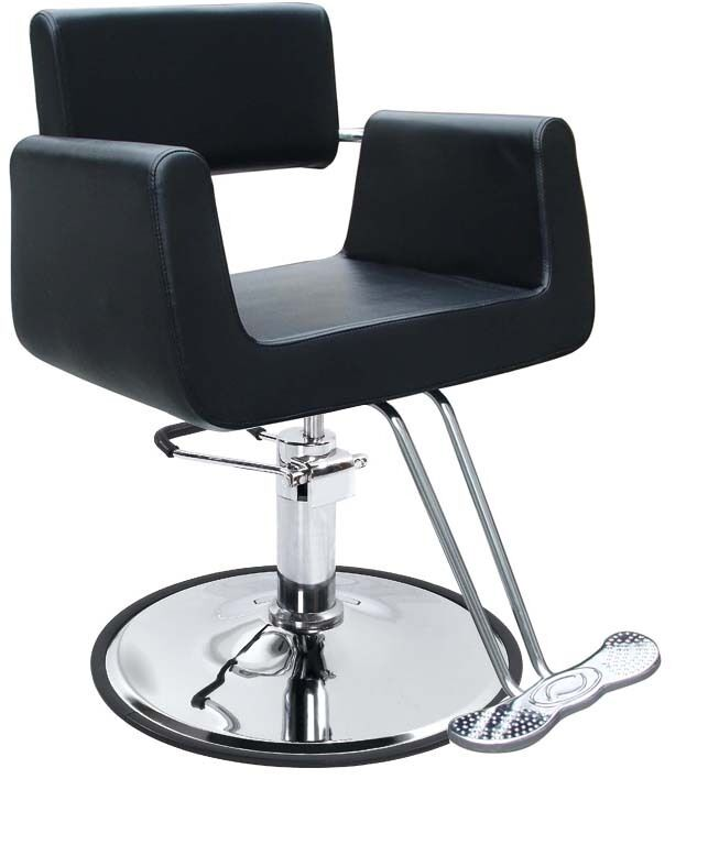 New Black Modern Hydraulic Barber Chair Styling Salon Beauty Spa Supplier 69B