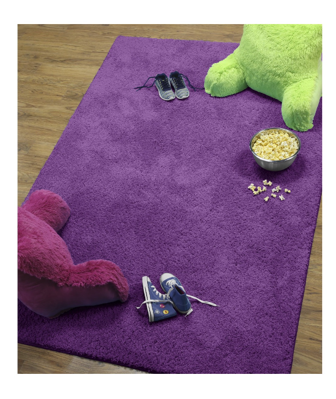 "New Purple Girl's 3' X 4'8"" Area Shag Rug Kid's Modern Home"