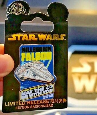 Disneyland Star Wars May The 4Th Be With You Millennium Falcon 2018 Lr Pin