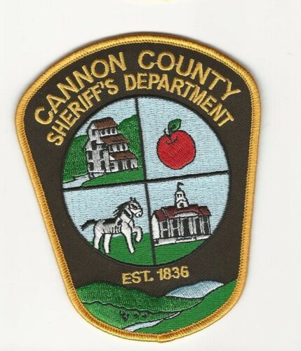 Colorful Cannon County Sheriff State Tennessee TN