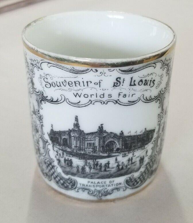 Antique 1904 Souvenir Cup St. Louis World Fair by Victoria Carlsbad Austria