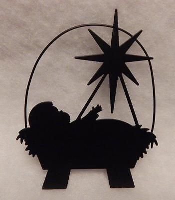 MANGER  BLACK METAL SILHOUETTE ORNAMENT](Manger Silhouette)