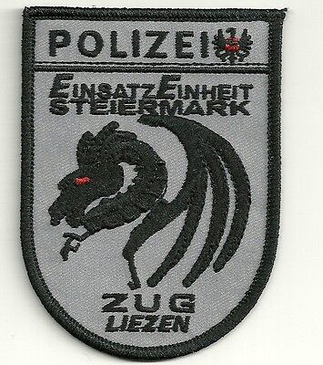 Österreich EINSATZEINHEIT STEIERMARK EE  GRAU ZUG LIEZEN Polizei Patch Abzeichen