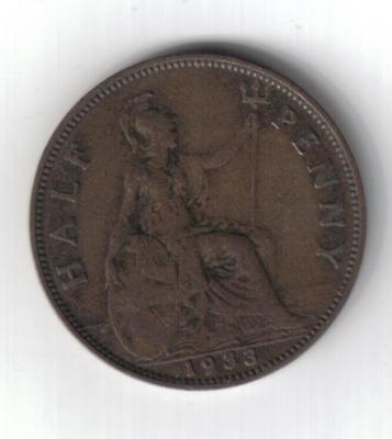 HALFPENNY - GEORGE V - 1933