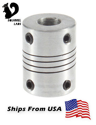 Nema 17 Flexible Shaft Coupling 5mm To 8mm For Cnc Or Reprap 3d Printer Prusa I3