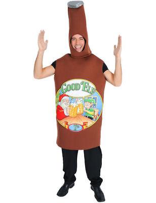 Buona 'Elfo Natalizie da Uomo Bottiglia di Birra Costume da Cervo Divertente
