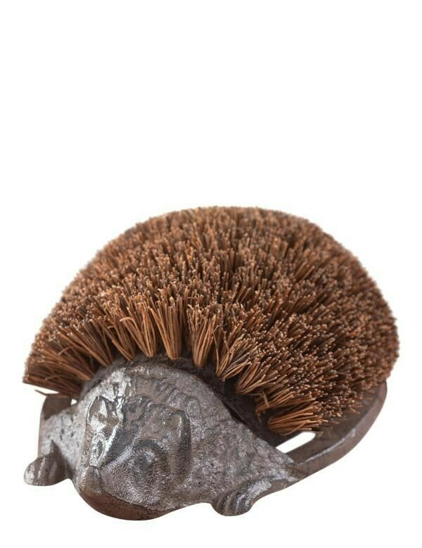 Victorian Trading Co Cast Iron Hans The Hedgehog Shoe or Boot Brush