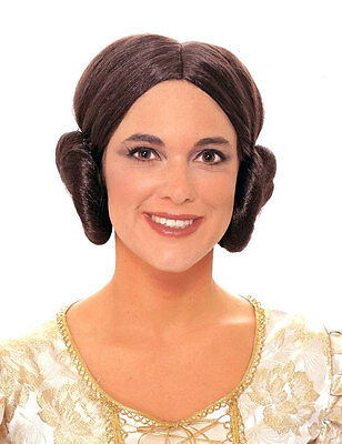 Star Wars Princess Leia Wig Costume Hair Buns Ear Muffs Muff Liea Lea FULL WIG ](Princess Lea Costumes)