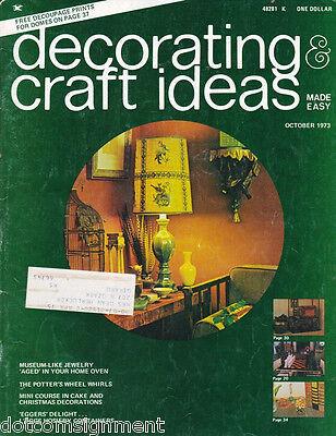 Decorating & Craft Ideas Made Easy Magazine Oct 1973 ~ Multi-Crafts Hip Mod