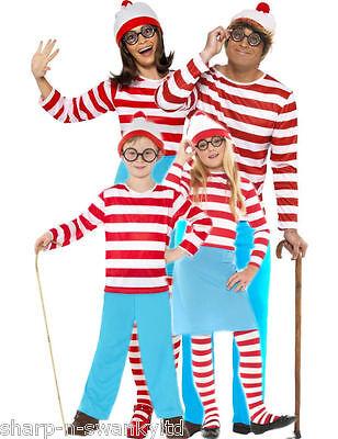 Familie Herren Damen Jungen Mädchen Where's Wally Buch - Wheres Wally Verkleiden