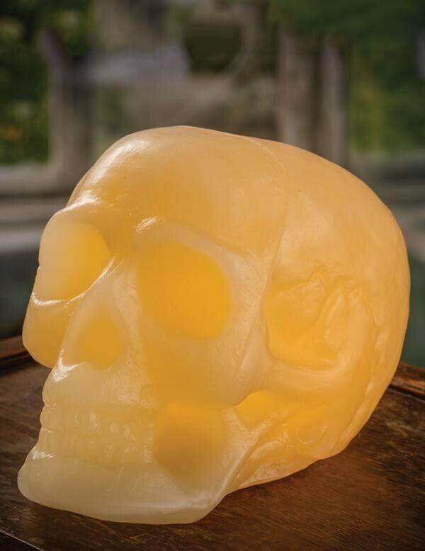 Victorian Trading Co Halloween Memento Mori Skull Light Flameless Candle