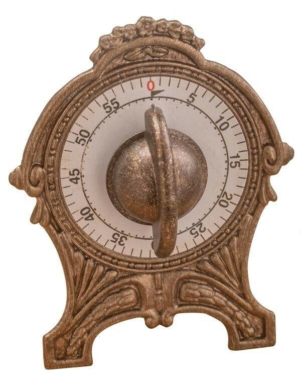 Victorian Trading Co Vintage Style Brass Kitchen Timer