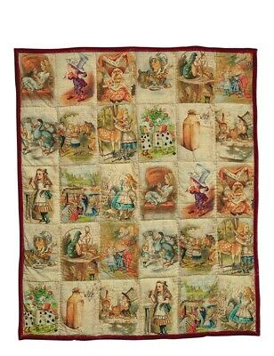 Victorian Trading Co NWOT Alice in Wonderland Quilt Throw 39A