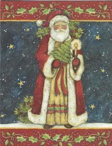 Lang Christmas Cards, Box Of 21, Welcome Santa By Susan Winget (118)