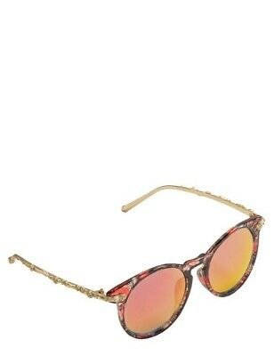 Victorian Trading Co Catalina Floral Rose Colored Round (Round Rose Colored Sunglasses)
