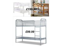BRAND NEW SILVER BUNK BED